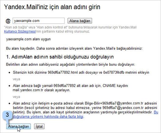 Yandex'in Kurumlar için Mail Servisi