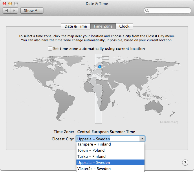 Enable The Set Time Zone Automatically Using Current Location Option So That Your Time Zone Setting Changes Automatically