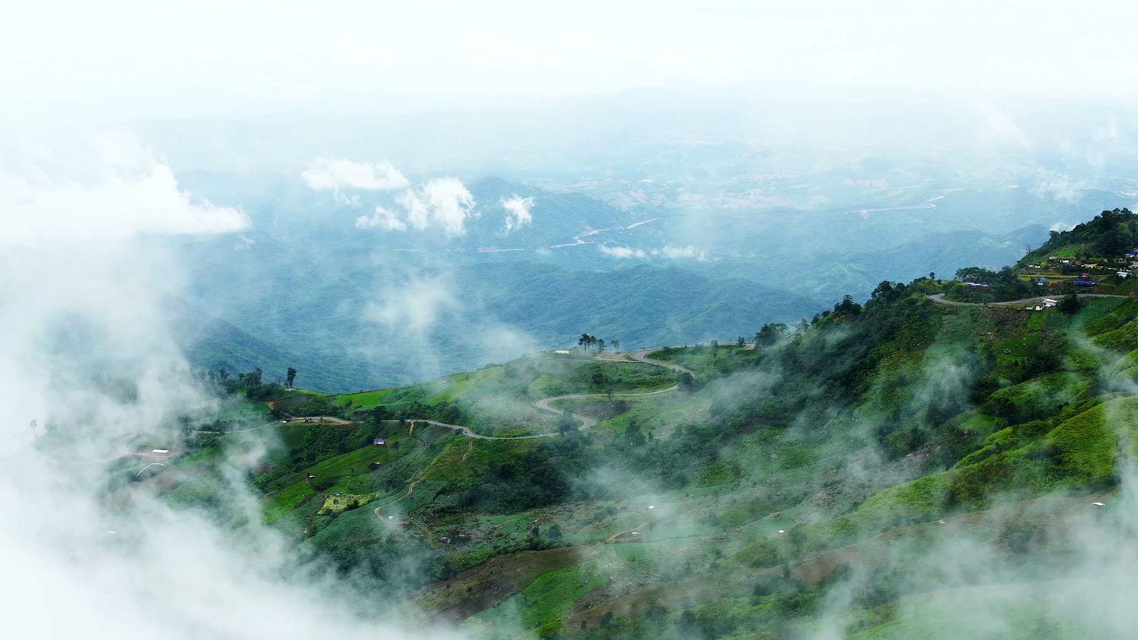 Сверху горы