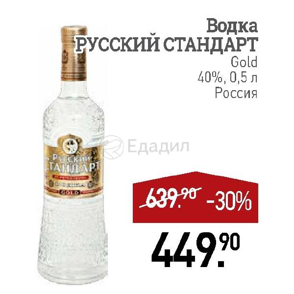 standard russian vodka entry into us