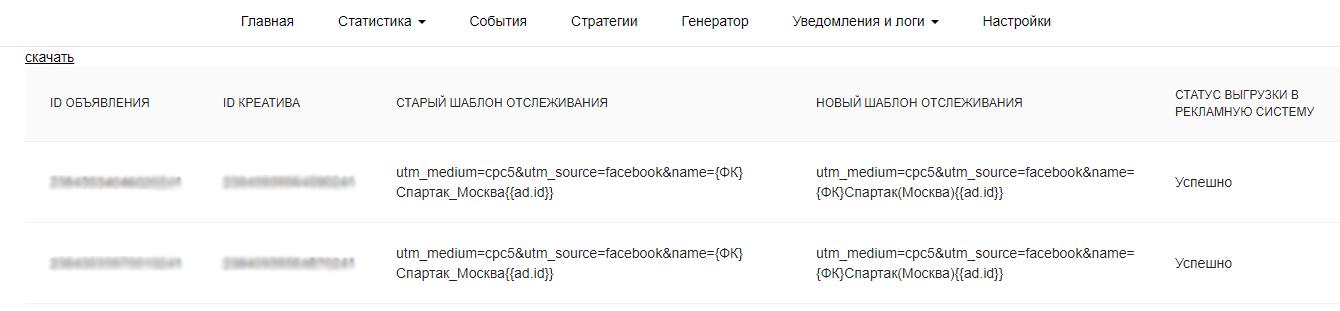 UTM Facebook