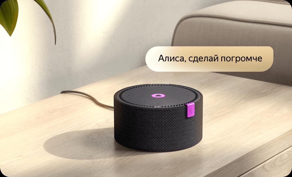 Умная колонка Яндекс Станция Мини с Алисой (черный) 9