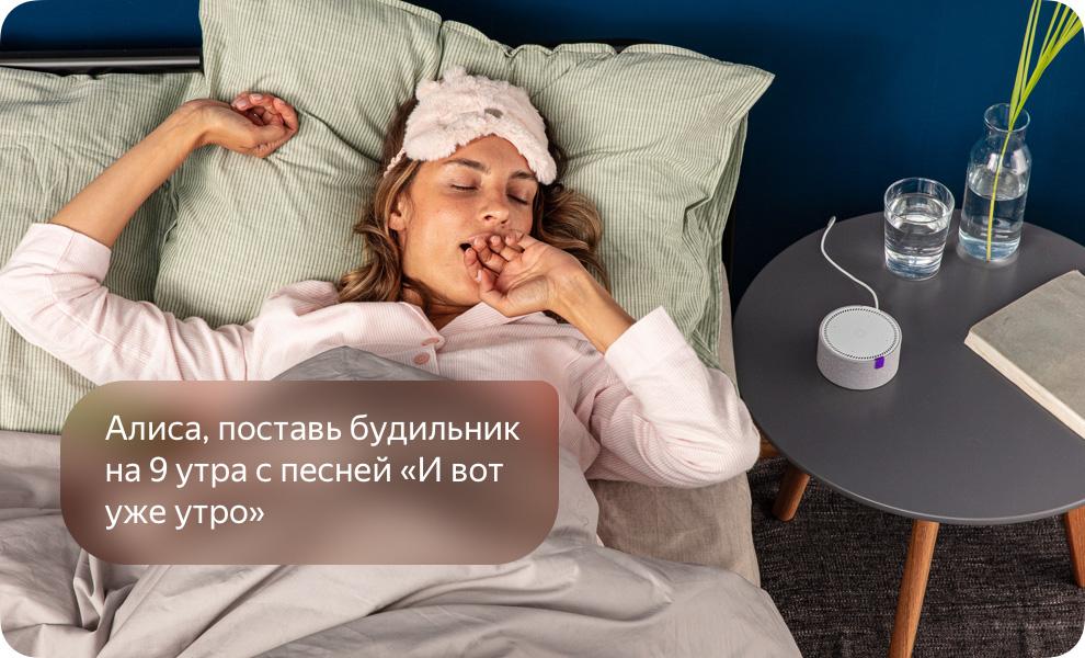 Умная колонка Яндекс Станция Мини с Алисой (черный) 16