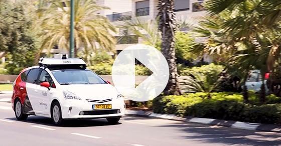 The first autonomous car onpublic roads ofTel Aviv