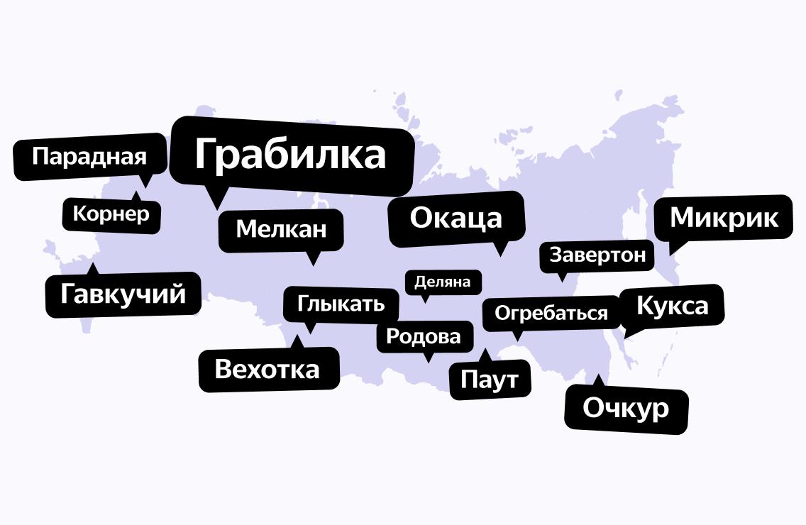 Как говорится: местные слова в разных регионах России